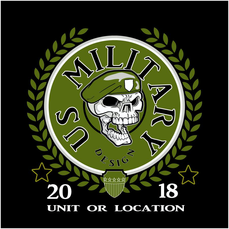 Military-Military Skull – Custom Identity Apparel – Dye